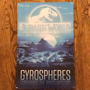 Jurassic World Gyrospheres Metal Sign
